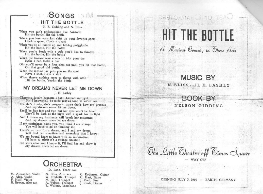 Hit the Bottle - POW play in WWII Germany
