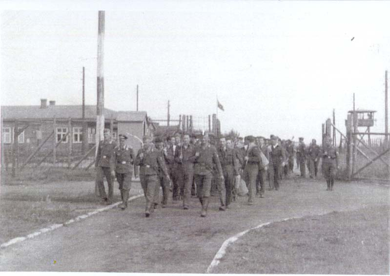 POWs arrive at Stalag Luft I main gate