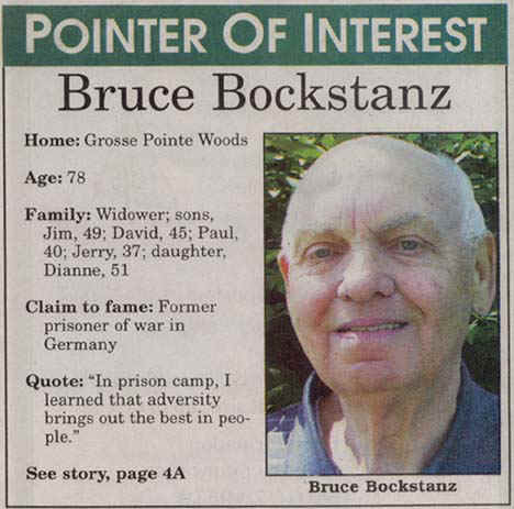 Bruce Bockstanz - Pointer of Interest  7/13/2000 - Grosse Pointe, Michigan
