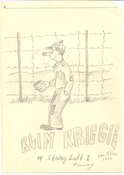 Klim Kriegie cartoon by Donald Ross