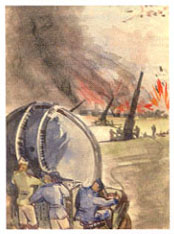 Anti-aircraft fire during WWII by Paul Canin