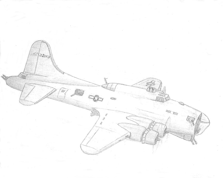 B 17 how to draw
