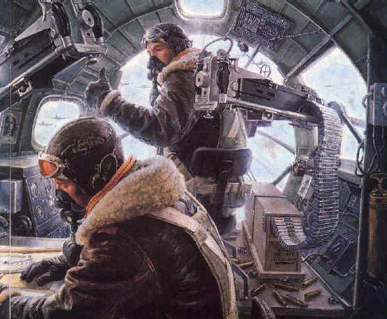 World War II combat mission - B-17