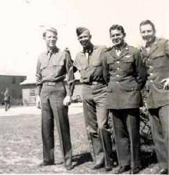 Dad and Zimmer crew at Drew Field - 1944