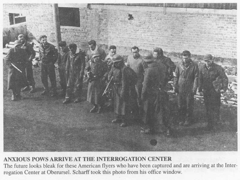 Air crew arrival at Dulag Luft - Prisoner of War interrogation center