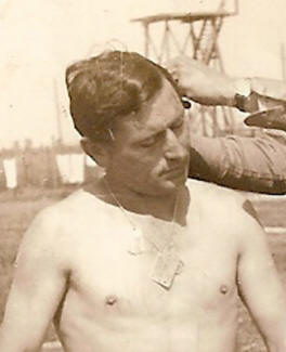 POW wearing his German dog tags