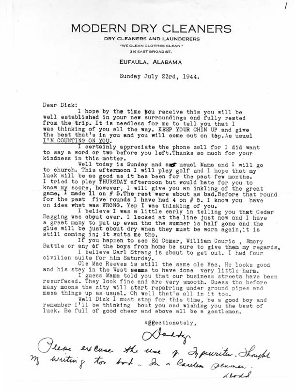 letter from home 72344 to wwii airman