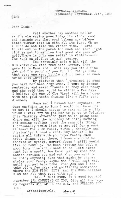 letter from home 92744 wwii father to son