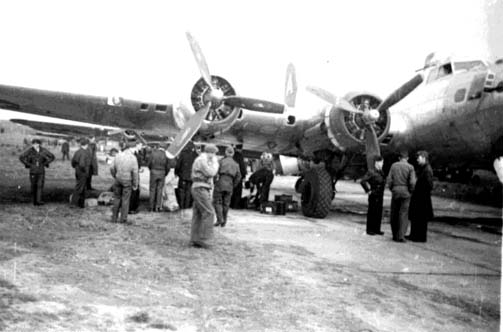 Loading another 91st B-17 at Barth POW pickup