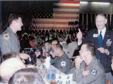 Claude at POW luncheon at Barksdale AFB