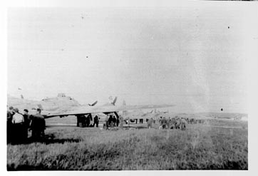 B-17 at Barth for evacuation of POWs