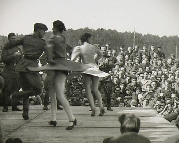 Russians Dancers entertaining the POWs