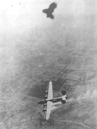 "B-24 ""Passion Pit"" going down in WWII"