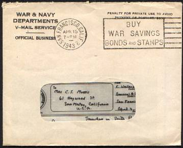 example of v mail letter on receiving side
