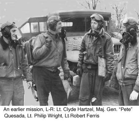 Clyde Hartzel, Pete Quesada,. Phil Wright, and Robert Ferris